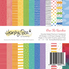 Honey Bee Stamps - Over The Rainbow Paper Pad