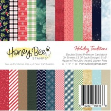 Honey Bee Stamps - Holiday Traditions Paper Pad