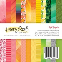 Honey Bee Stamps - Hot Tropics Paper Pad