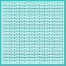 Honey Bee Stamps - Perfect Bricks Background Stencil