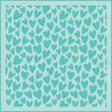 Honey Bee Stamps - Whimsical Hearts Background Stencil