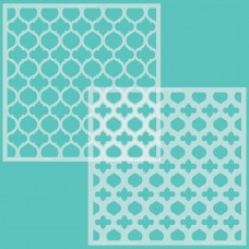 Honey Bee Stamps - Quatrefoil Layers Stencils (Set of 2)
