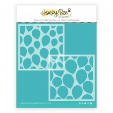 Honey Bee Stamps - Layering Balloons Stencils