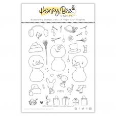 Honey Bee Stamps - Snow Buddies Bundle (stamp and die set)