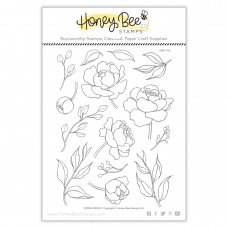 Honey Bee Stamps - Spring Peony
