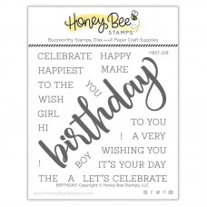 Honey Bee Stamps - Birthday