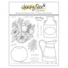 Honey Bee Stamps - Farm Fresh Flowers