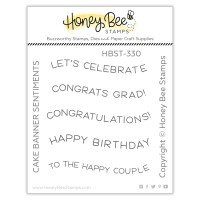 Honey Bee Stamps - Cake Banner Sentiments