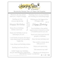 Honey Bee Stamps - Inside: Birthday Sentiments