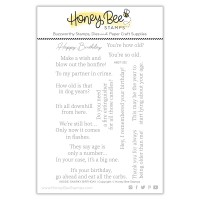 Honey Bee Stamps - Inside: Snarky Birthday Sentiments