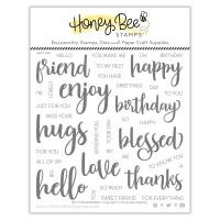 Honey Bee Stamps - Bitty Buzzwords