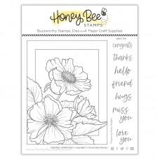 Honey Bee Stamps - Framed: Anemones