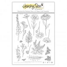 Honey Bee Stamps - Wildflowers