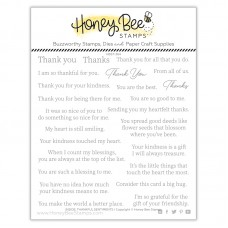 Honey Bee Stamps - Inside: Thankful Sentiments