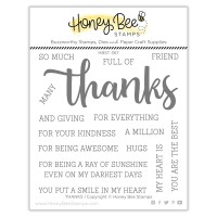 Honey Bee Stamps - Thanks