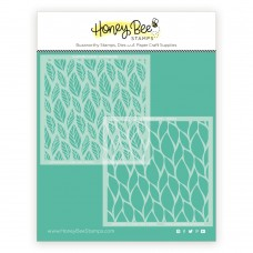 Honey Bee Stamps - Scattered Leaves Stencil (set of 2)