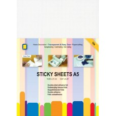 Jeje - Sticky Sheets A5 - Double-sided Adhesive Foil (10 sheets)
