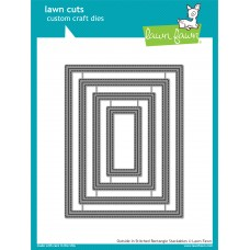 Lawn Fawn - Outside In Stitched Rectangle Stackables