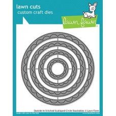 Lawn Fawn - Outside In Stitched Scalloped Circle Stackables