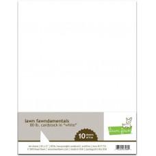 Lawn Fawn - 80lb Cardstock - White