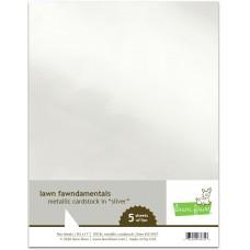 Lawn Fawn - Metallic Cardstock - Silver