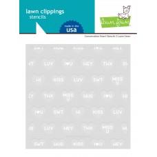 Lawn Fawn - Conversation Heart Stencils