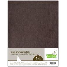 Lawn Fawn - Woodgrain Cardstock - Dark Brown