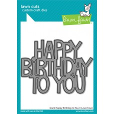 Lawn Fawn - Giant Happy Birthday To You