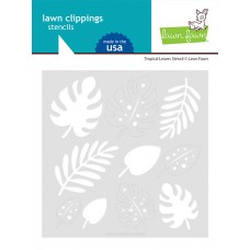 Lawn Fawn - Tropical Leaves Stencil