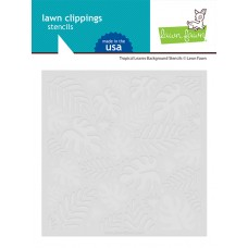 Lawn Fawn - Tropical Leaves Background Stencils