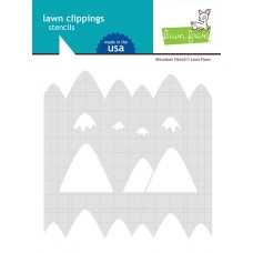 Lawn Fawn - Mountain Stencil