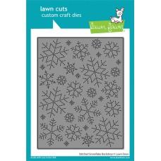 Lawn Fawn - Stitched Snowflake Backdrop