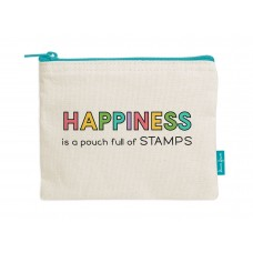 Lawn Fawn - Zipper Pouch - Happiness Is A Pouch Full Of Stamps