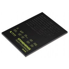 "Legion - Stonehenge Aqua Coldpress Pad 8""X10"" (15 sheets) - Black"
