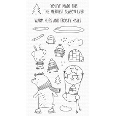 My Favorite Things - Warm Hugs and Frosty Kisses (stamp and dies)