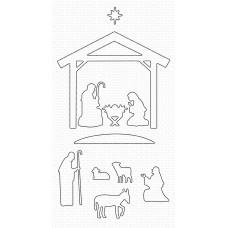 My Favorite Things - Nativity Silhouette Die-namics