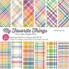 My Favorite Things - MSTN Rainbow Plaid Paper Pad
