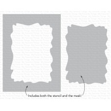 My Favorite Things - Watercolor Wash Rectangle Stencil