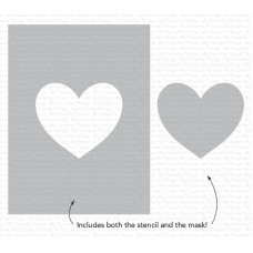 My Favorite Things - Heart Extraordinaire Stencil
