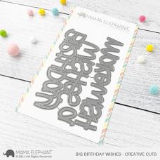 Mama Elephant - Big Birthday Wishes Creative Cuts