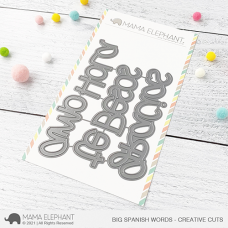 Mama Elephant - Big Spanish Words Creative Cuts