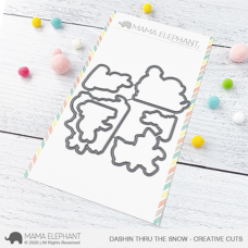 Mama Elephant - Dashin Thru The Snow Creative Cuts