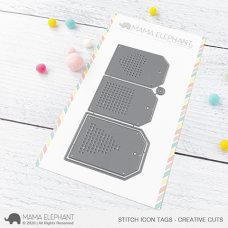 Mama Elephant - Stitch Icon Tags Creative Cuts
