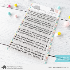 Mama Elephant - Easy Xmas Greetings