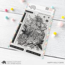 Mama Elephant - Happy Holly Days