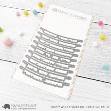 Mama Elephant - Happy Word Banners Creative Cuts
