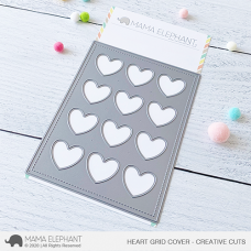 Mama Elephant - Heart Grid Cover Creative Cuts