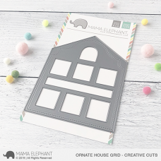 Mama Elephant - Ornate House Grid Creative Cuts
