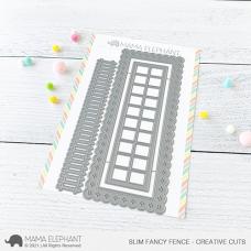 Mama Elephant - Slim Fancy Fence Creative Cuts