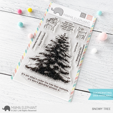 Mama Elephant - Snowy Tree